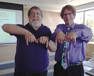 Photo of Allan Carrington and Curt Bonk ... the MOOC shot