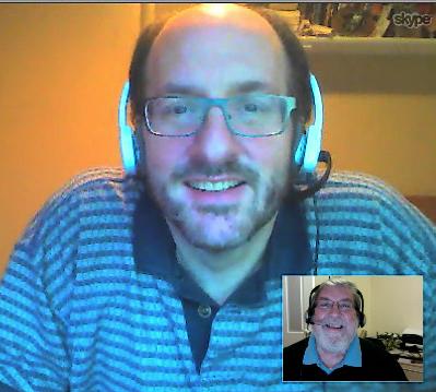 Ken Spero and Allan in Skype