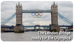 The London Bridge ready for the Olympics
