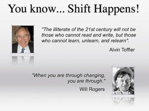 Shift Happens Title Slide